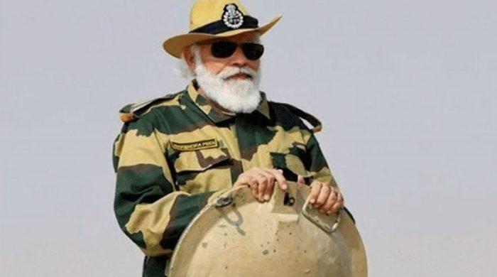 সেনাবাহিনীর পোশাকে মোদি: ভারতজুড়ে সমালোচনার ঝড়