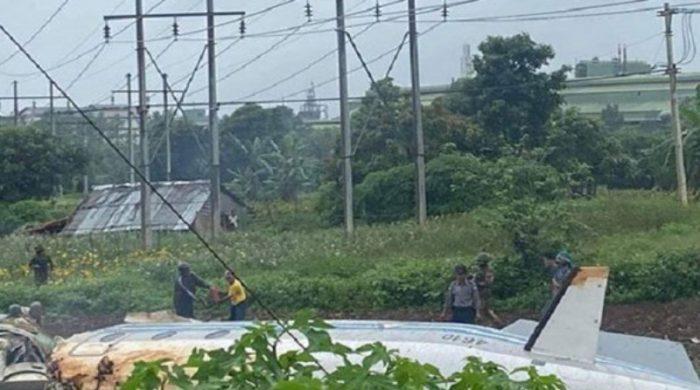 মিয়ানমারে সামরিক প্লেন বিধ্বস্তে ১২ জন নিহত