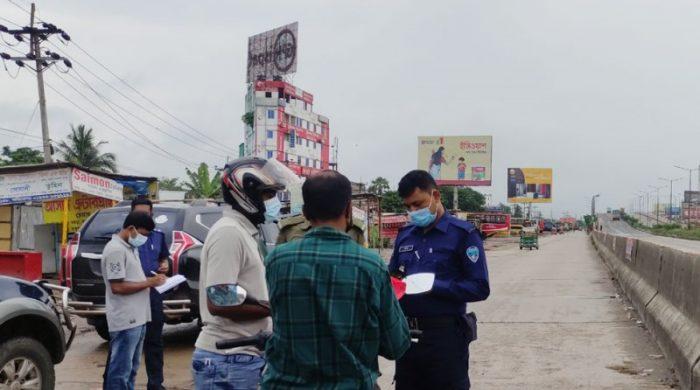 ঢাকা-চট্টগ্রাম মহাসড়কে কঠোর অবস্থানে প্রশাসন